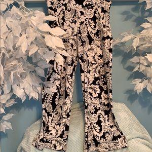 White & Black Carmen lined Pants